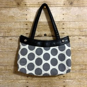 THIRTY-ONE Fitted Skirt Purse - Grey Mod Dot